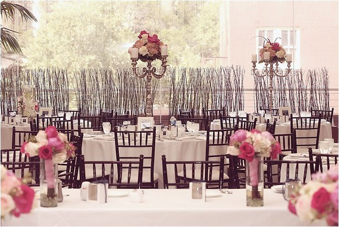 Ivory, Fuchsia and Navy Wedding at The Sam Houston Hotel