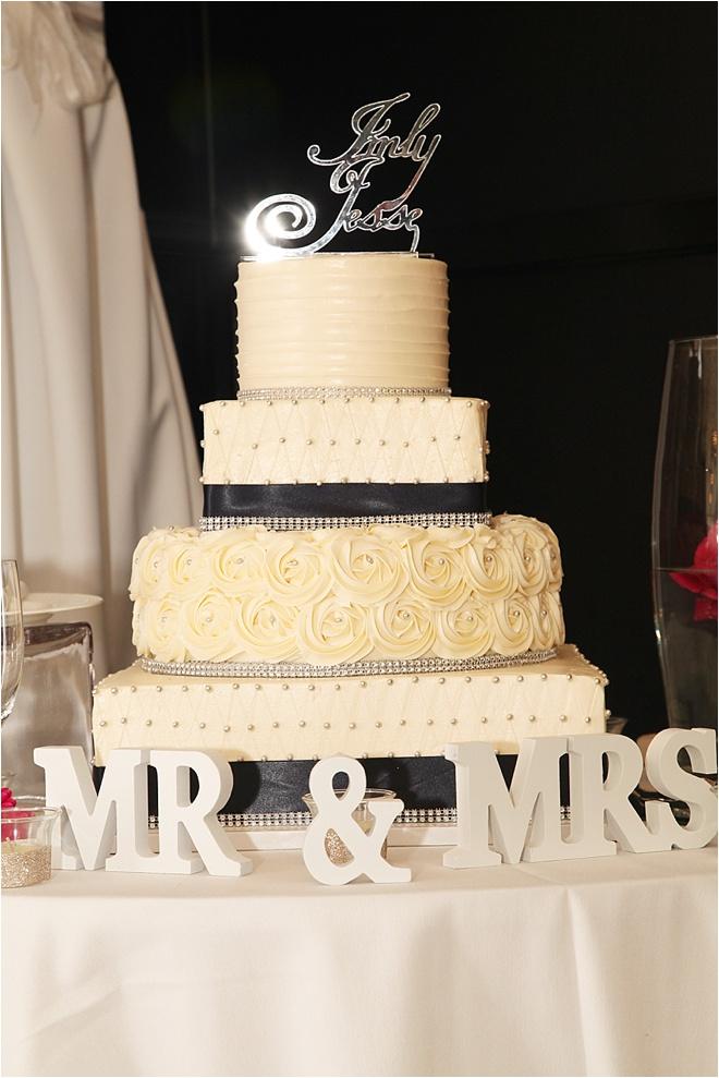 Ivory, Fuchsia and Navy Wedding at The Sam Houston Hotel