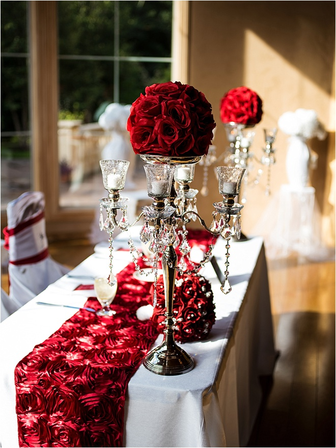 Romantic White And Red Wedding At Chateau Polonez By Civic