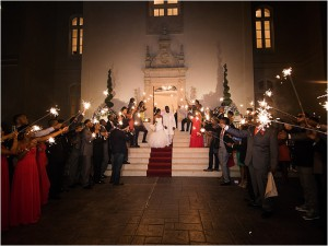 Champagne and Red Wedding at Chateau Cocomar by Civic Photos