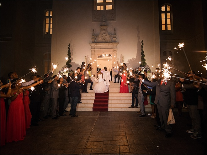 Champagne & Red Wedding at Chateau Cocomar by Civic Photos