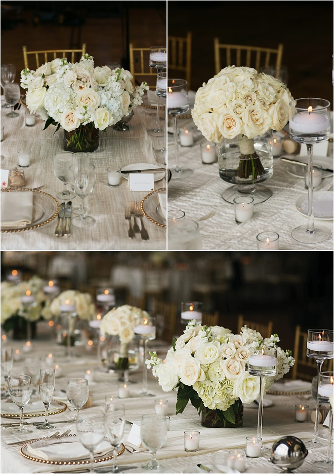 White rose centerpiece « houston wedding