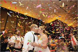 Ivory, Gray and Gold Wedding at The Petroleum Club of Houston by D. Jones Photography