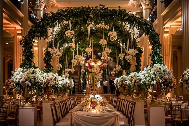 Ornate Gold, Blush & Light Blue Wedding at The Corinthian