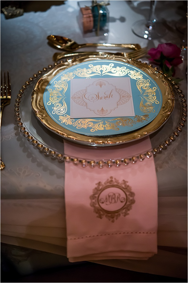 Ornate Gold, Blush & Light Blue Wedding at The Corinthian