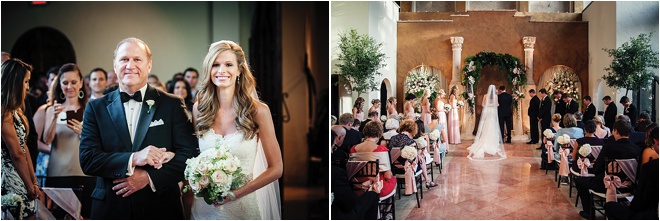 Blush, Rose, Gold & Champagne Wedding at The Bell Tower on 34th Street by Steve Lee Photography