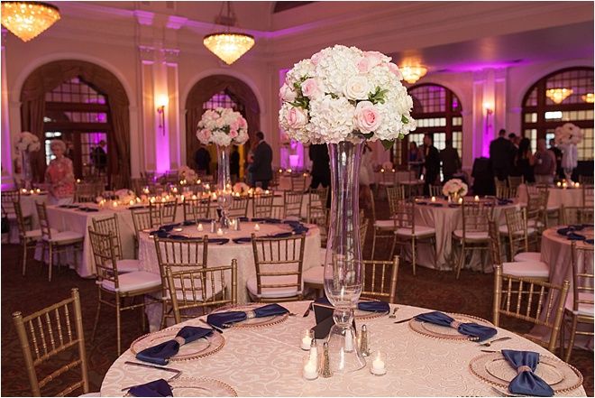 Navy, Blush & Gold Wedding at Crystal Ballroom at The Rice by MD Turner Photography
