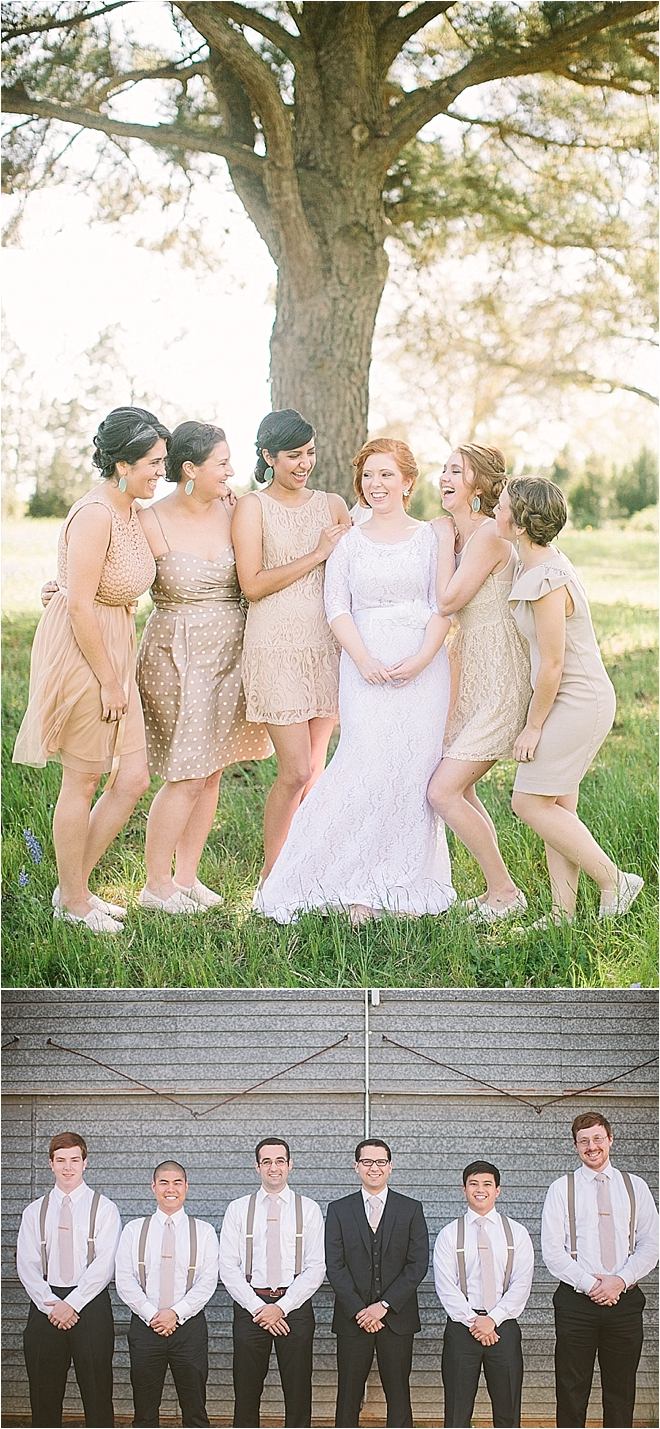 Bridal Party in Cream
