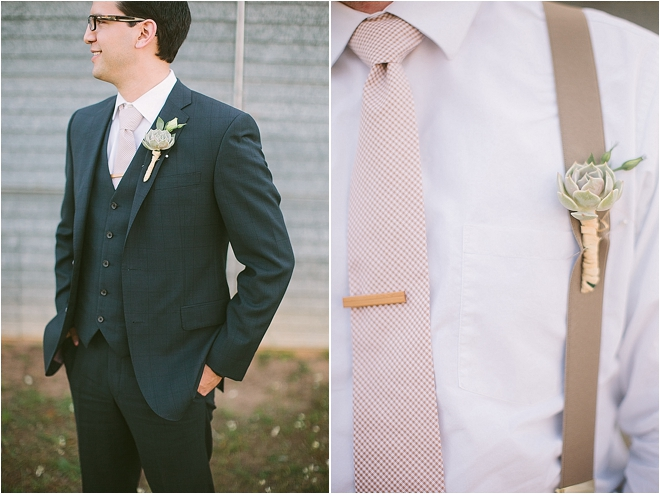 Rustic Touches with Peach Tie