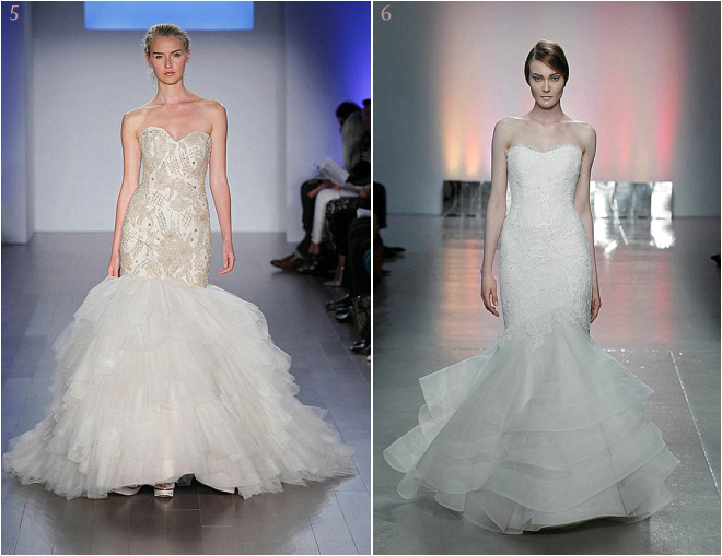 Beaded Drop Waist Bridal Gown with Flowing Skirt