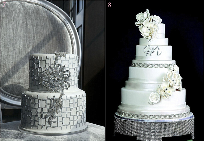 Tiered-Wedding-Cake-with-Swavroski-Crystals-Details-and-Floral-Touches