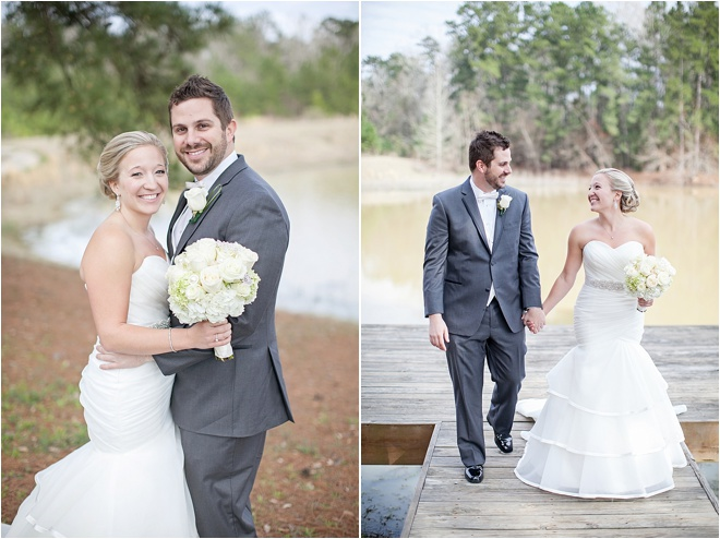 Peach, Green & Gray Rustic Wedding