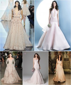 Spring 2016 Bridal Gown Trend: Color Me Beautiful