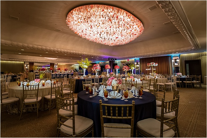 Navy, Ivory, Gold & Coral Wedding at the Four Seasons Hotel Houston by Steve Lee Photography