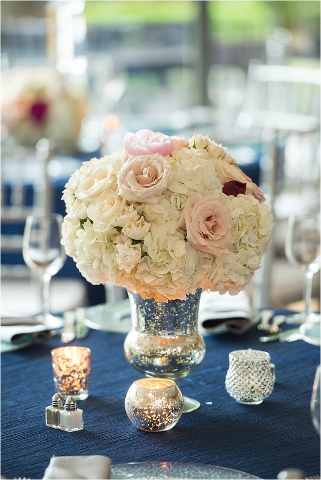 Navy, Blush & Gray Wedding by MD Turner Photography