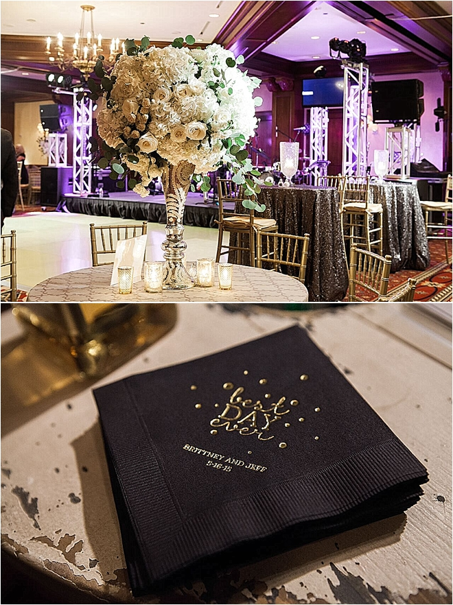 Metallic Wedding at The Houstonian by Akil Bennett Photographer