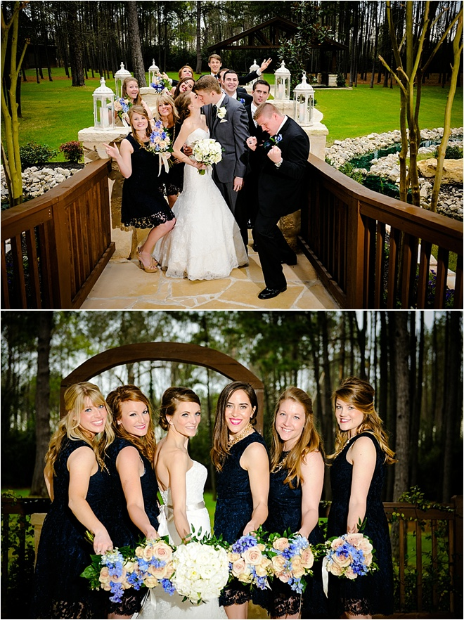 Navy, Gold, Green & Pink Wedding