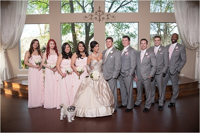 Black & Pink Wedding at Heather's Glen