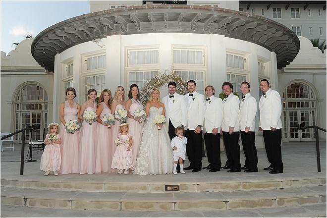 Blush Champagne Wedding At Hotel Galvez