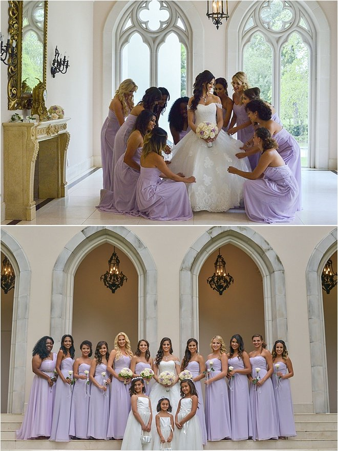 Lavender, Ivory & Gold Wedding at Chateau Cocomar