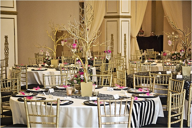 Gold, Hot Pink & Black Wedding at Chateau Cocomar