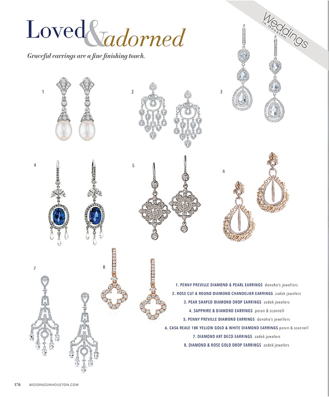 2016 Bridal Jewelry Trend: Chandelier Earrings