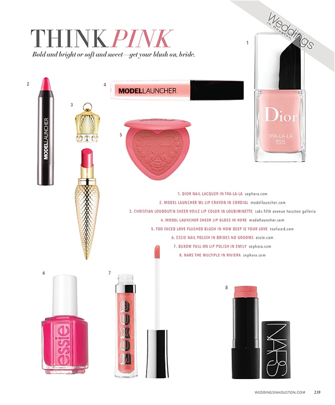 Bridal Beauty: Think Pink