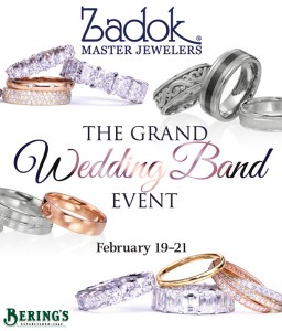 Zadok Jewelers' Grand Wedding Band Event THIS WEEKEND