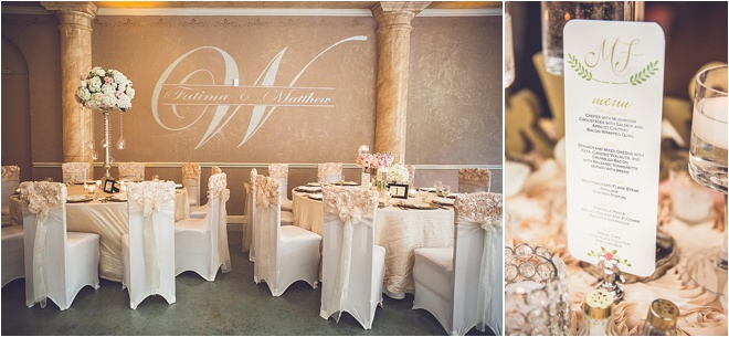 Blush, Ivory & Gold Wedding at Chateau Polonez by Ama Photography & Cinema