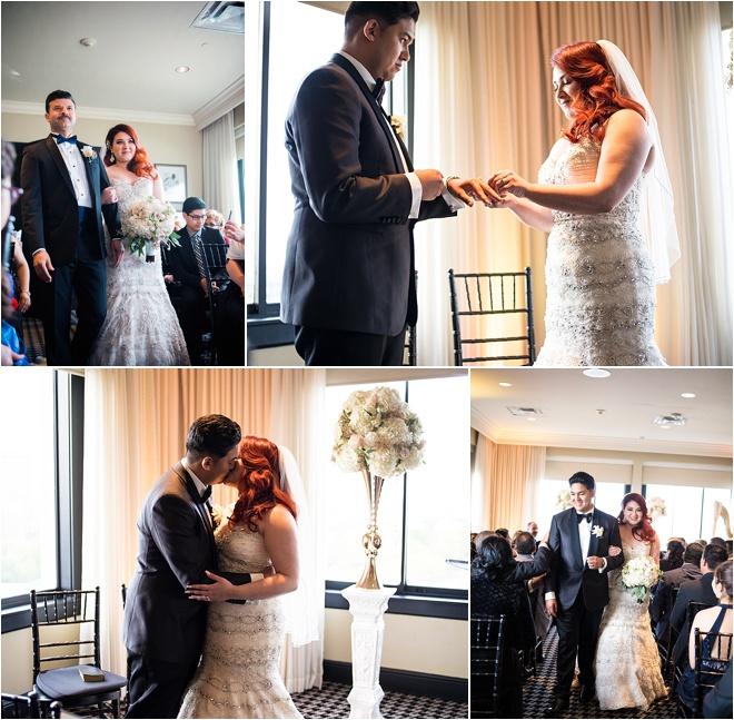 Gold & Black Wedding at Hotel ZaZa by Civic Photos