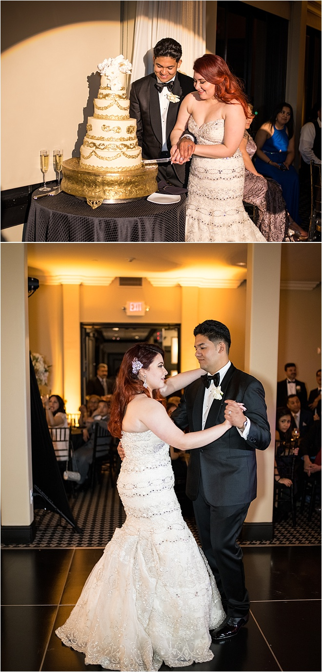 Gold & Black Wedding at Hotel ZaZa by Civic Photos