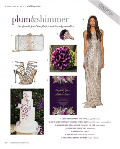 2016 Wedding Color Palette We Love: Plum and Metallics
