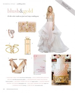 Currently Crushing On: Blush and Gold Weddings