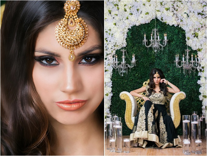Stunning South Asian Bridal Styled Shoot at Chateau Polonez by Aventography
