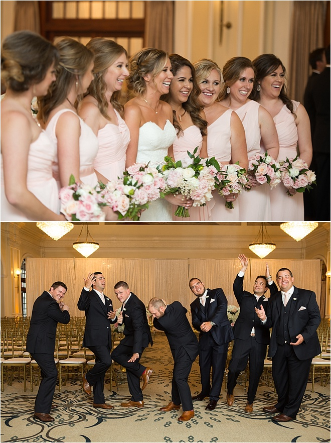 Blush, Navy & Gold Wedding at the Crystal Ballroom at The Rice by MD Turner Photography