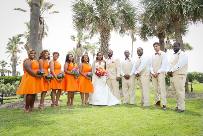 Short-Orange-Bridesmaid-Dresses