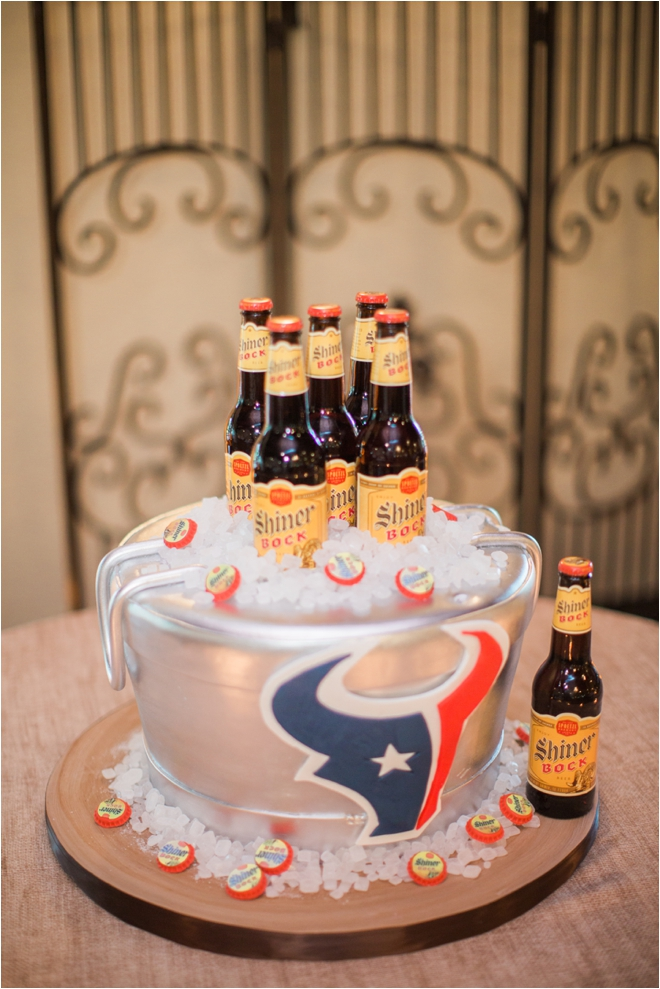 Beer-and-Football-Groom-Cake