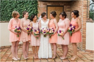 Fuchsia, Lavender & Peach Wedding at The Gallery
