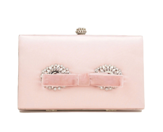 Badgley Mischka-Autumn Framed Box Clutch with Bow