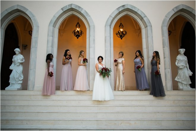 Bridesmaids-Outside-of-Chateau-Cocomar
