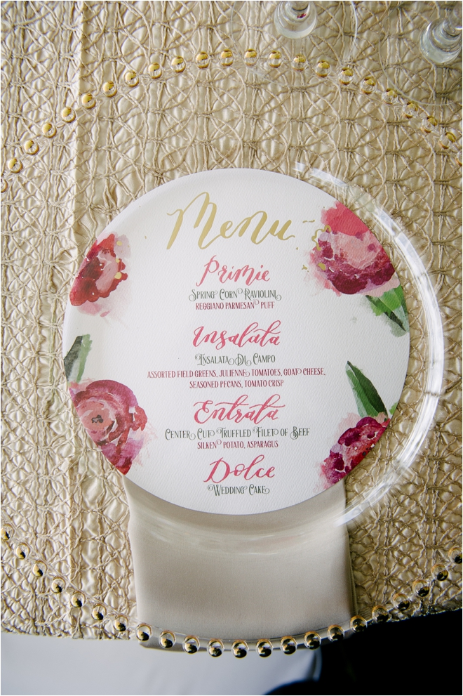 Floral-Wedding-Menu