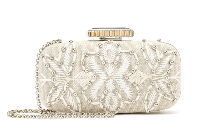 ODLR-Embroidered Linen Clutch