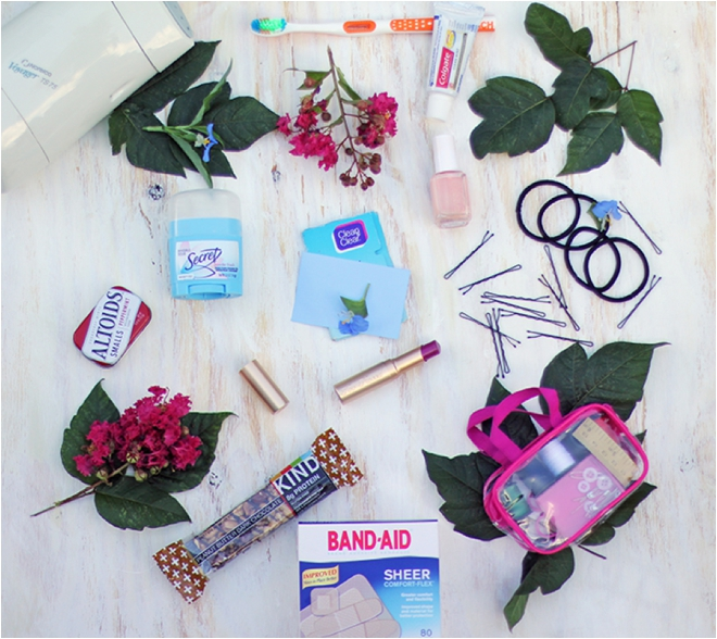 c937f6afc846 Whether you're packing your own bridal bag (aka the wedding-day emergency  kit) or having your MOH get one ready for you, you'll want to make sure not  to ...