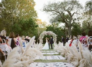 Boho-Luxe Texas Ranch Wedding With Awesome Guest Welcome Bags!