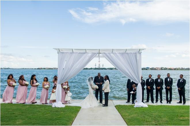 Romantic Outdoor Ceremony & Indoor Reception At Waters