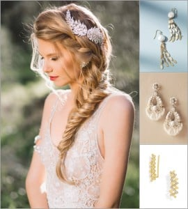 3 Hot Bridal Hairstyles + Our Earring Picks for Each!