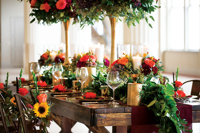 Dream Bouquet Fall Tabletop Design