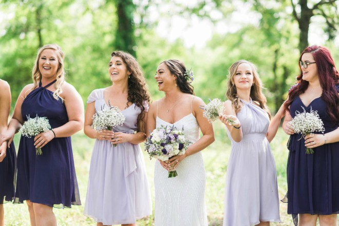 E Johnston Designs Babys Breath Bridesmaid Bouquets