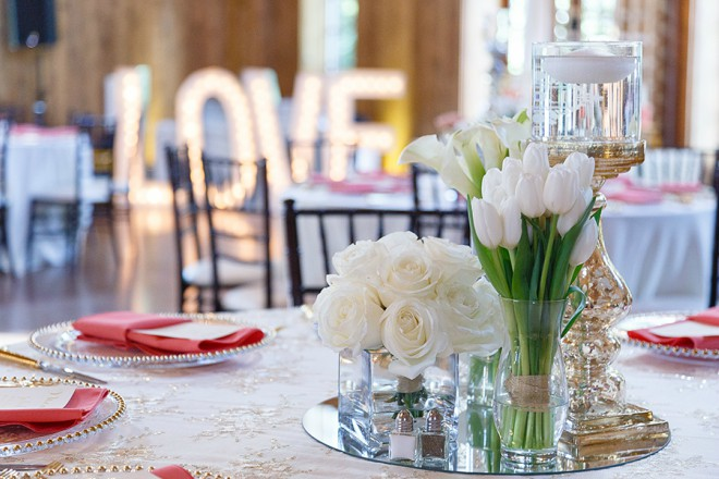 E Johnston Designs Tulips Roses Table Centerpiece