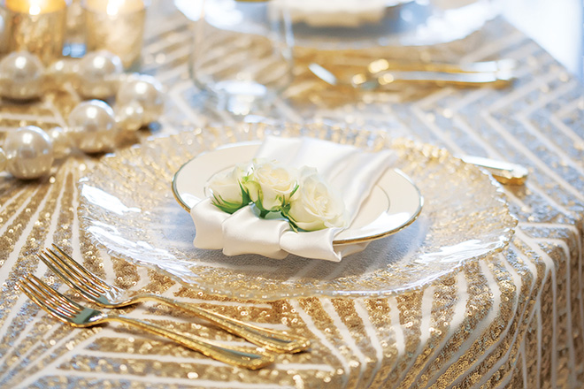 Plants N Petals Winter Wedding Place Setting